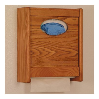 Combo Towel Dispenser and Glove/Tissue Holder Finish: Medium Oak