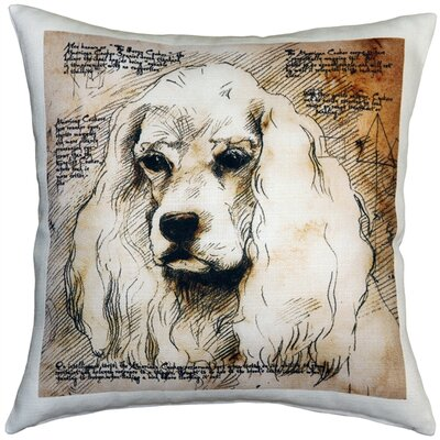 Chaston American Cocker Spaniel Dog Indoor/Outdoor Throw Pillow