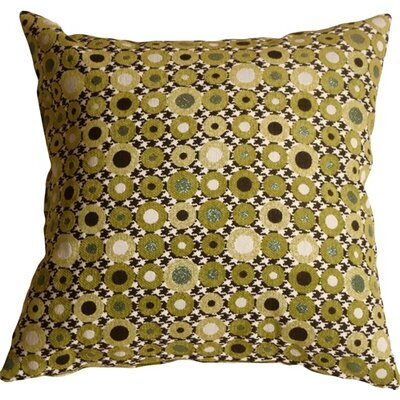 Kinley Spheres Square Throw Pillow Color: Green