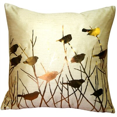Etienne Birds Throw Pillow Color: Desert Sand