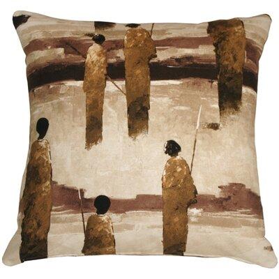 Foster Masai Warrior Throw Pillow Color: Brown