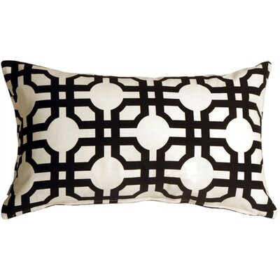 Jamaal Groovy Grille Cotton Lumbar Pillow Color: Licorice