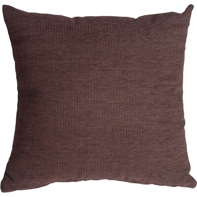 Sherwood Chenille Throw Pillow Size: 16 H x 16 W x 5 D, Color: Purple