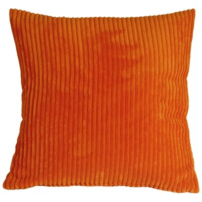 Luciana Throw Pillow Size: 18 H x 18 W x 5 D, Color: Dark Orange