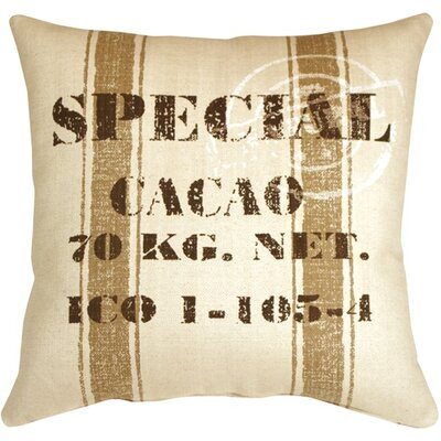Rudra Cacao Bean Throw Pillow Color: Brown