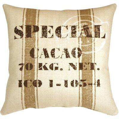 Cacao Bean Throw Pillow Color: Brown