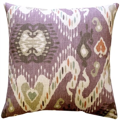 Vandemark Cotton Throw Pillow Color: Mulberry