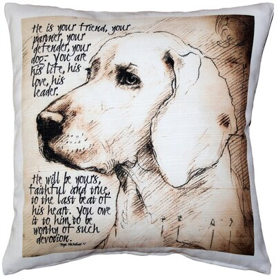 Devoted Dog Throw Pillow