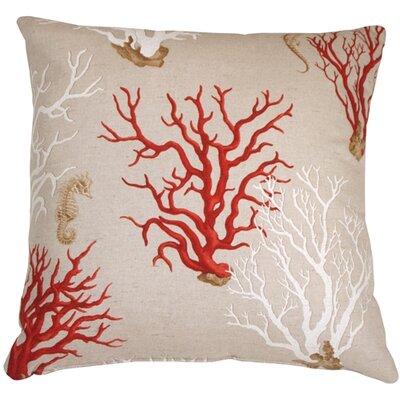 Bettencourt Coral Throw Pillow Color: Red