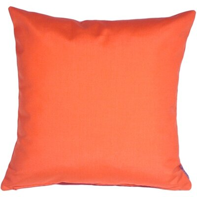 Outdoor Sunbrella Throw Pillow Color: Melon