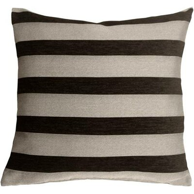 Boutin Stripes Throw Pillow Color: Black