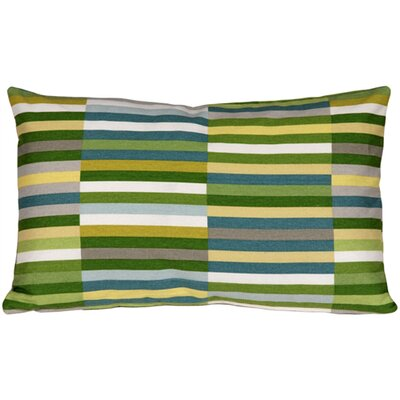 Waverly Side Step Cotton Lumbar Pillow Color: Marine