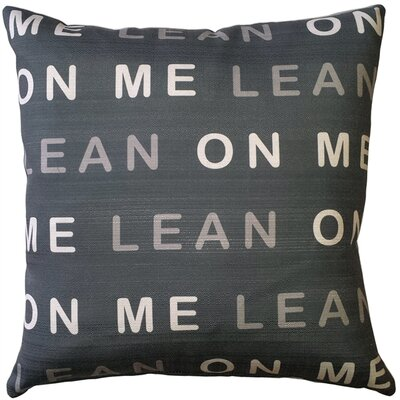 Evette Lean on Me Indoor/Outdoor Throw Pillow Color: White