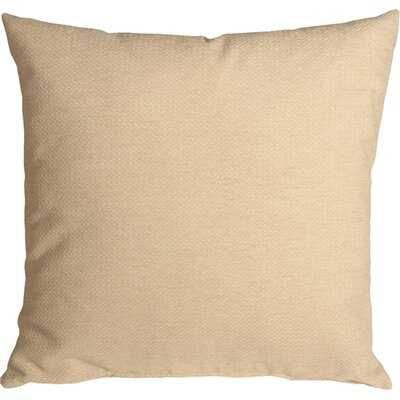 Sherwood Chenille Throw Pillow Size: 20 H x 20 W x 6 D, Color: Cream