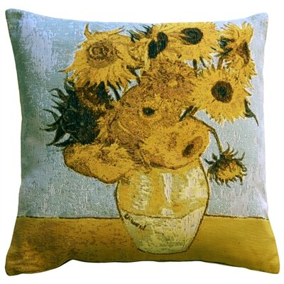 Bullion Sunflowers Throw Pillow