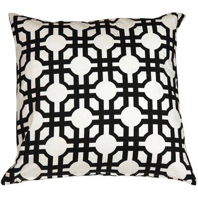 Jamaal Groovy Grille Cotton Throw Pillow Color: Licorice