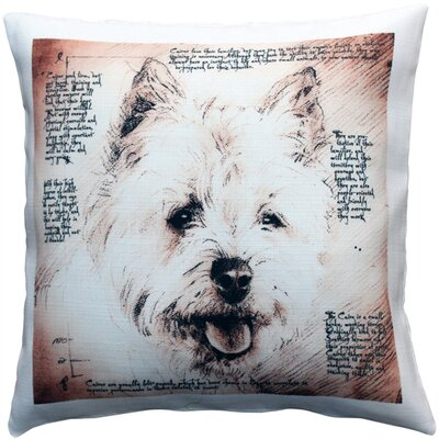 Charie Cairn Terrier Male Dog Indoor/Outdoor Throw Pillow