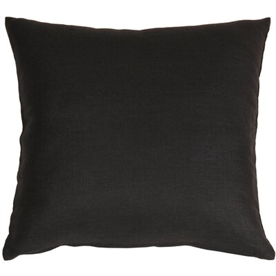 Newsome Linen Throw Pillow Size: 17 H x 17 W x 5 D, Color: Black