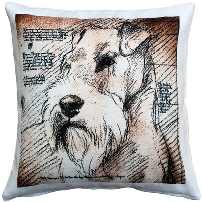 Nunda Schnauzer Looking Left Dog Indoor/Outdoor Throw Pillow