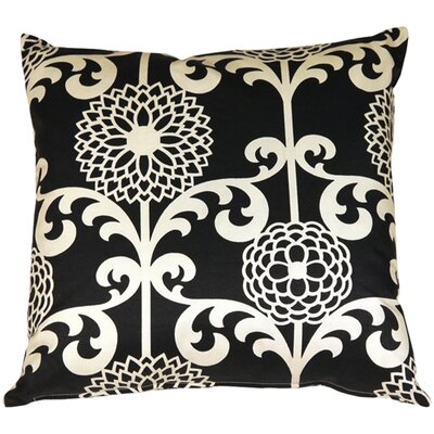 Roth Floret Cotton Throw Pillow Color: Licorice