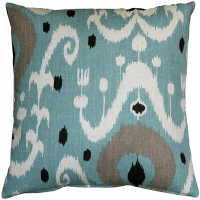 Indah Ikat Throw Pillow Color: Blue