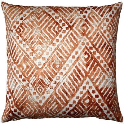 Tangga Throw Pillow Color: Orange