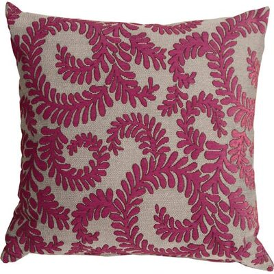 Boutin Ferns Throw Pillow Color: Pink
