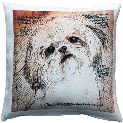 Niles Shih Tzu Tilted Head Dog Indoor/Outdoor Throw Pillow