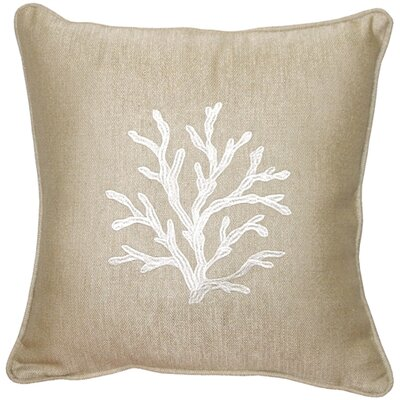 Lyla Sea Coral Throw Pillow Color: Cream