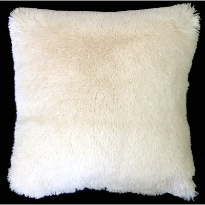 Anatole Soft Plush Throw Pillow Color: Cream