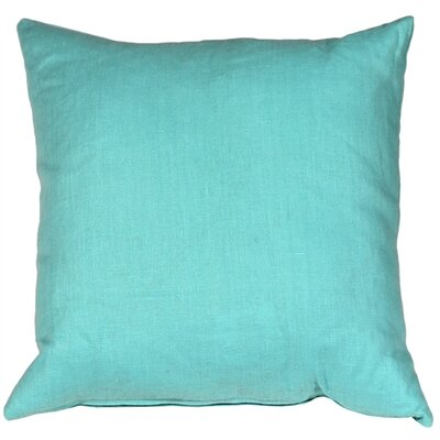 Newsome Linen Throw Pillow Size: 20 H x 20 W x 6 D, Color: Turquoise