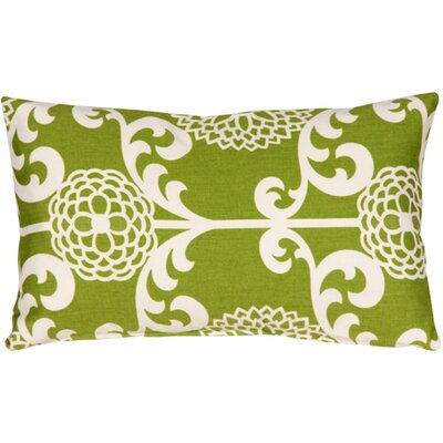 Washingtonville Floret Cotton Lumbar Pillow Color: Spruce
