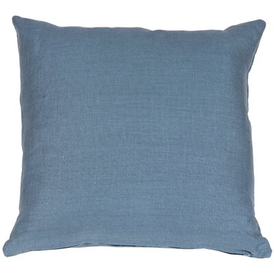 Newsome Linen Throw Pillow Size: 20 H x 20 W x 6 D, Color: Wedgewood Blue