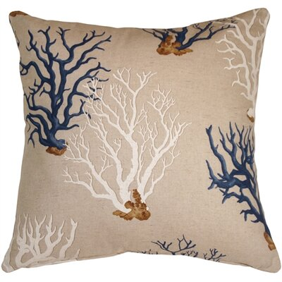 Bettencourt Coral Throw Pillow Color: Blue