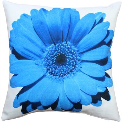 Bold Daisy Flower Indoor/Outdoor Throw Pillow Color: Blue