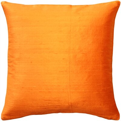Finlay Solid Silk Throw Pillow Size: 18 H x 18 W x 5 D, Color: Orange