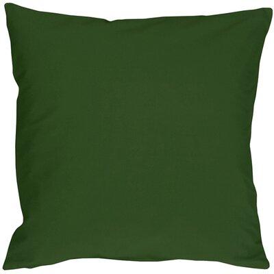 Caravan Cotton Throw Pillow Size: 16 H x 16 W x 5 D, Color: Forest Green
