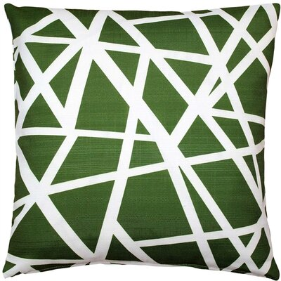 Vanbrunt Indoor/Outdoor Throw Pillow Color: Green