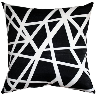 Vanbrunt Indoor/Outdoor Throw Pillow Color: Black