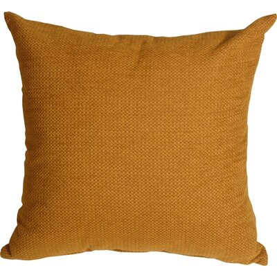 Sherwood Chenille Throw Pillow Size: 16 H x 16 W x 5 D, Color: Ochre