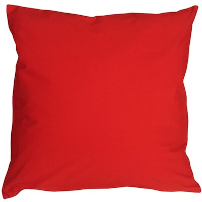 Caravan Cotton Throw Pillow Color: Red, Size: 23 H x 23 D x 7 D