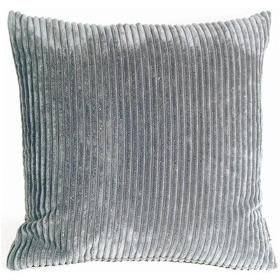 Wide Wale Corduroy Throw Pillow Size: 18 H x 18 W x 5 D, Color: Dark Gray