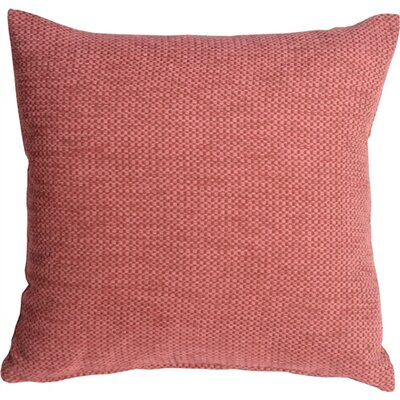 Sherwood Chenille Throw Pillow Size: 20 H x 20 W x 6 D, Color: Pink