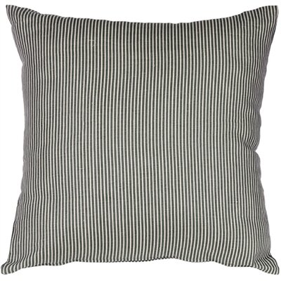 Ticking Stripe Linen Throw Pillow Size: 15 H x 15 W x 4 D, Color: Wedgewood Blue