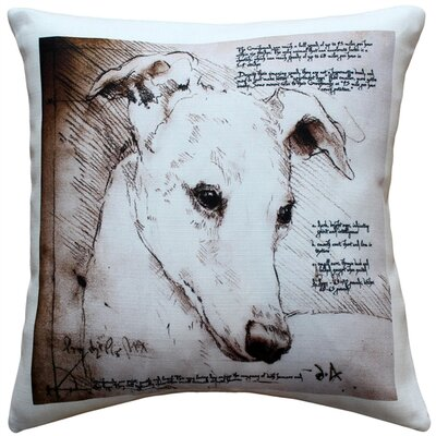 Cerridale Greyhound Dog Indoor/Outdoor Throw Pillow