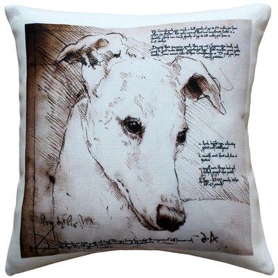 Greyhound Dog Indoor/Outdoor Throw Pillow