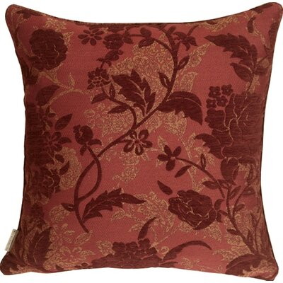 Vickery Traditional Floral Throw Pillow Color: Wine