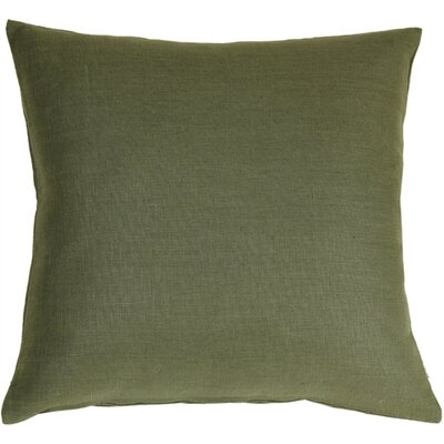 Tuscany Linen Throw Pillow Size: 20 H x 20 W x 6 D, Color: Fig Green