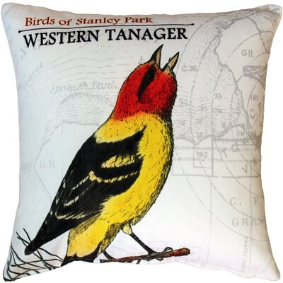 France Western Tanager Bird Throw Pillow