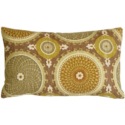 Chessington Medallion Cotton Lumbar Pillow Color: Mulberry